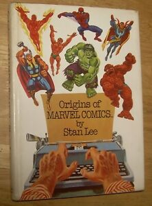 Origins of MARVEL Comics by Stan Lee scarce HARDCOVER edition Spider-Man HULK FF