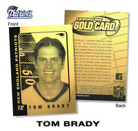 2003 TOM BRADY NFL NEW ENGLAND PATRIOTS Officially Licensed 23KT LASER GOLD CARD