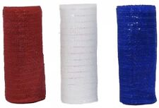 Lot of 3~Decorative Mesh Red,White,Blue,Crafts patriotic colors 5 yard, 6 inches
