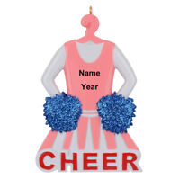 Personalized Cheerleader Christmas Ornament - Competition Cheer Team Dancer