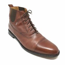 Men's Mezlan Ankle Boots Dress Shoes Size 13 M Brown Leather Cap Toe Lace Up E5