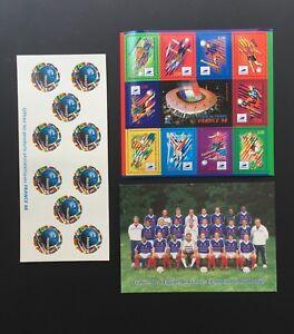 FRANCE 1998 COUPE du MONDE de FOOTBALL 1998 TIMBRES / FRANCE - LOT -