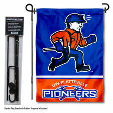 Wisconsin Platteville Pioneers Garden Flag and Yard Stand Included