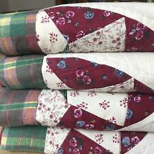 More details for vintage 4 patchwork american quilt pillow sham cases shabby chic country cottage