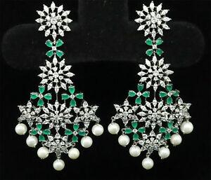 Elegant Chandelier Cubic Zirconia Earrings 26 GE 12
