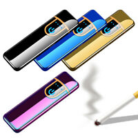 Rechargeable Ultra Slim USB Electric Pulse Cigarette Lighter Windproof Flameless