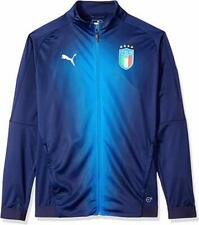 Puma Big Boy's Big FIGC Italia Stadium Soccer Track Jacket  Blue