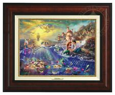 Thomas Kinkade Little Mermaid Canvas Classic (Burl Frame)  Disney Art