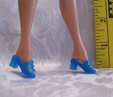 New Fits Barbie, Malibu And Silkstone 1 Pair Sheer Blue Ot Shoes