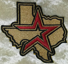 "Houston Astros TX State 3.5"" Iron On Embroidered Patch~US Seller~ FREE Ship~"