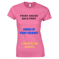 CUSTOM PERSONALISED DESIGN YOUR OWN T SHIRTS HEN STAG HOLIDAY - LADIES