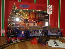 LGB 72305 BLUE CHRISTMAS EXPRESS PASSENGER TRAIN STARTER SET COMPLETE NEW IN BOX