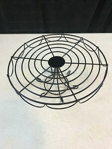 """Black Wire Metal Cake Plate Display Stand 10.5"""" x 5"""""""