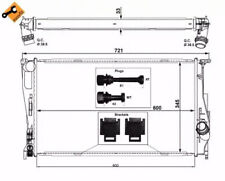 Radiator, engine cooling NRF 53472