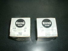 Two Rolls of Kester Solder Wire, 0.020 and 0.010, one pound rolls