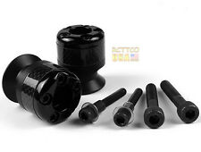 2X 6mm Carbon fiber Swingarm Sliders Spools For Yamaha YZF-R1/MT-01/MT-03 Black