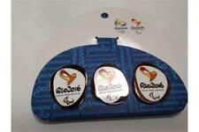 Rio 2016 - Set of 3 Paralympics Pin Badge - Olympics Gold Silver & Bronze New