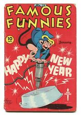 FAMOUS FUNNIES #138 - HAPPY NEW YEARS COVER - BUCK ROGERS - DICKIE DARE - 1946