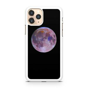 Elegant Pretty Lush Pink Mixed Coloured Full Moon Galaxy Space Phone Case Cover