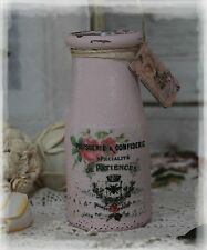 ~ Vintage French Farmhouse Shabby Chic Distressed *Heritage Company* Milk jar ~
