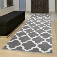 Grey Hallway Runner Small Large Modern Hall Carpet Runners Rugs Extra Very Long