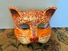 Paper Mache Handpainted Cat Mask