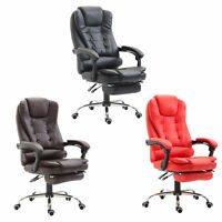 HOMCOM Executive Style Reclining Office Napping Chair PU Leather W/ Footrest