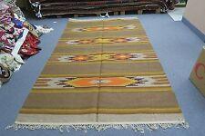Russian Hand Woven Wool Kilim Rug Folk Ethnic Art 8'4 x 5'4 Vintage but New