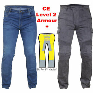 RTX Level 2 Motorcycle Armoured Biker JEANS Forcefield SAS-TEC Full Aramid Lined
