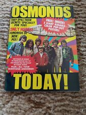 All Osmond Teen Magazine 1970's Donny Osmonds Poster. 84 Pages.
