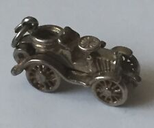Unique Miniature Vintage Antique Silver Charm Pendant Classic Car Motor Vehicle