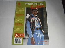 Vtg Brother Europe Machine Knitting Fashion Pattern Magazine Issue 6 36 Designs