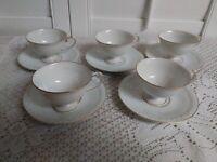 Lot of 5. Fukagama Arita Tea cup Pedestal set , Made in Japan