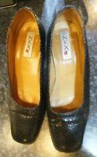 "New unworn Ladies Black leather court style shoes size 5, NEXT, 2.75"" heel"