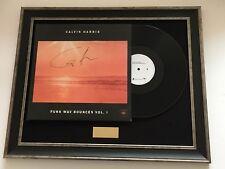 PERSONALLY SIGNED/AUTOGRAPHED CALVIN HARRIS - FUNK WAV BOUNCES VOL 1 FRAMED LP