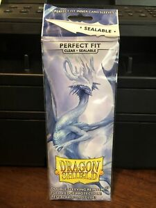 Dragon Shield Sleeves Pack of 100 Perfect Fit Inner Card Sleeves Clear Sealable