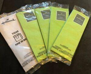 New! 5 Lot Hallmark TIssue Paper - 4 Green, 1 White. 30 Pieces Total.
