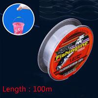 100M Super Strong 100% Fluorocarbon Monofilament Nylon PA Fishing Line 0.8-6LB~