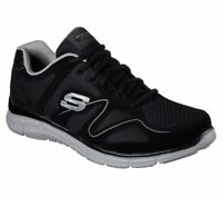 Skechers Black Shoes Men's Wide Fit Comfort Casual Mesh Sport Memory Foam 58350