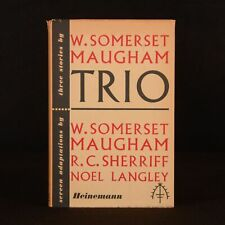 1950 Trio W. Somerset Maugham Illustrated Dustwrapper Screen Adaptations