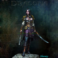 75mm 1:24 Scale Fantastic Female Warrior Figure Model Resin Unpainted Garage Kit