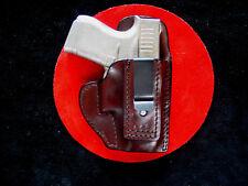 Inside waist band leather holster Glock 43  tuckable dark brown