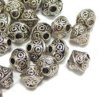 ZP5 ★★ 30 Metallperlen QUADRAT 7mm Antik Silber Spacer Zwischenperlen Schmuck