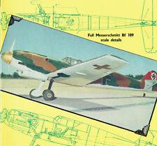 "Model Airplane Plans (UC): Me-109-e 1/12 Scale 33"" for .19-.35 (Musciano)"