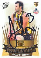 ✺Signed✺ 2008 HAWTHORN HAWKS AFL Premiers Card JORDAN LEWIS