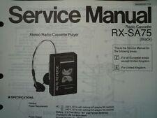 Panasonic RX-SA75 RADIO REGISTRATORE A CASSETTE MANUALE SERVIZIO diagramma di cablaggio parti