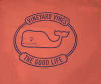 Vineyard Vines Men's Good Life Whale S/S Pocket T-Shirt Sz 2XL Mai Tai Coral-NEW