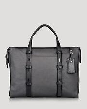 Tumi Mission Harrison Slim Leather Briefcase Laptop Bag 68917 Iron Reg $495 NEW