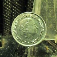CIRCULATED 1975 10 CENTS NETHERLANDS COIN (80219)1.....FREE DOMESTIC SHIPPING!