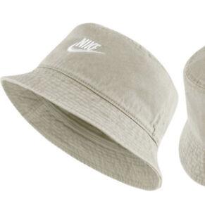 Men's Nike Sportswear Bucket Futura Hat Canvas Bone White M L Unisex Women's